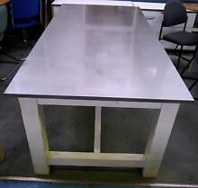 Freedom Providore White Timber Stainless Steel Dining Table Melbourne CBD Melbourne City Preview