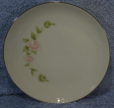"""Style House Pink TUDOR ROSE (8) Bread & Butter Plates 6 1/4"""""""