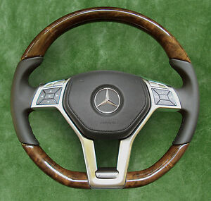 mercedes wood steering wheel ebay
