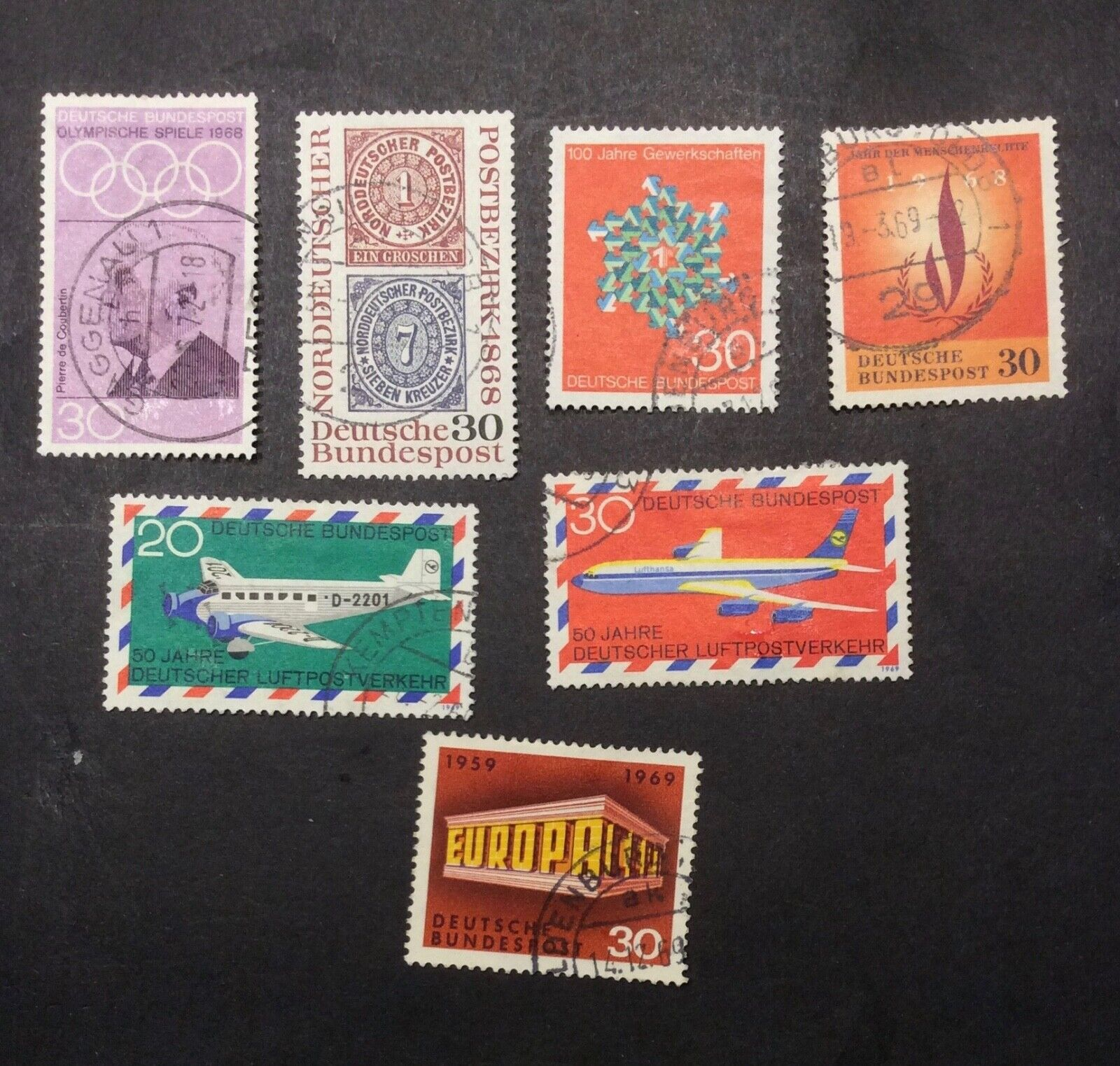 Germany 986, 990- 994, 997, Used, Hinged - $1.00