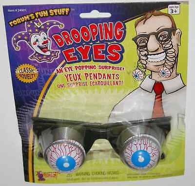 Droopy Drooping Eye Glasses joke spring fun gag gift classic novelty optometrist (Droopy Eye Glasses)