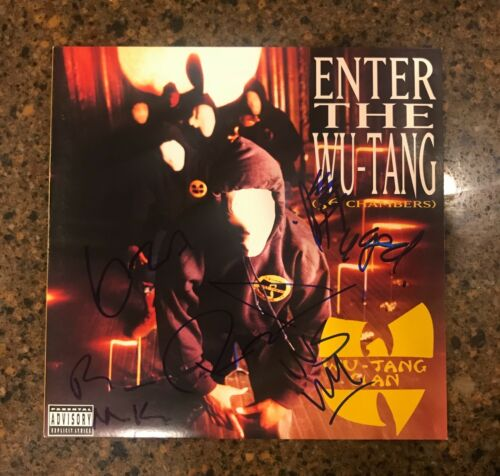 * WU TANG CLAN * signed vinyl album * ENTER THE WU TANG * 36 CHAMBERS * by 6