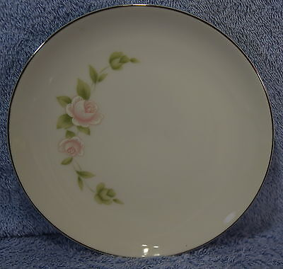"""Style House Pink TUDOR ROSE (7) Dessert or Bread & Butter Plates 6 1/4"""" Lot of 7"""
