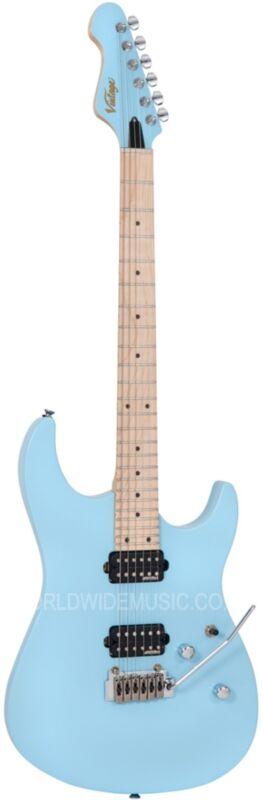 Vintage V6M24LB Rock Series Electric Guitar - Laguna Blue - 24 Frets