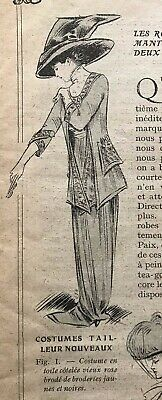 MODE PRATIQUE April 3, 1909+ sewing pattern - Gorgeous costumes and dresses