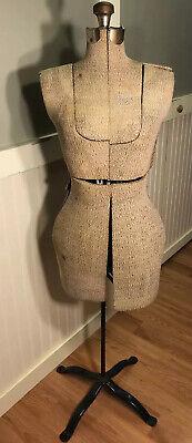 Vintage Adjustable Dress Form Mannequin With Blue Stand
