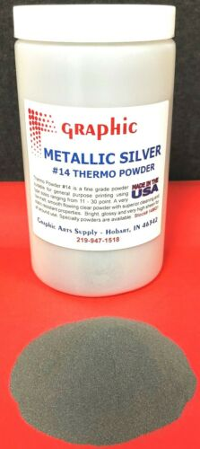 THERMOGRAPHY POWDER METALLIC SILVER #14 NEW 1 POUND