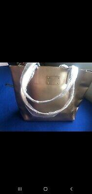 Michael Kors Large Gold Designer Tote / Shopper / Beach / Holiday Bag