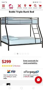 Double bunk bed frame