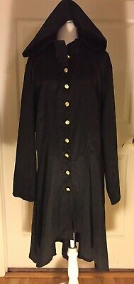 Women's Gothic Cosplay Costume Long Hooded Cloak Jacket Stage Steampunk NWT 4XL