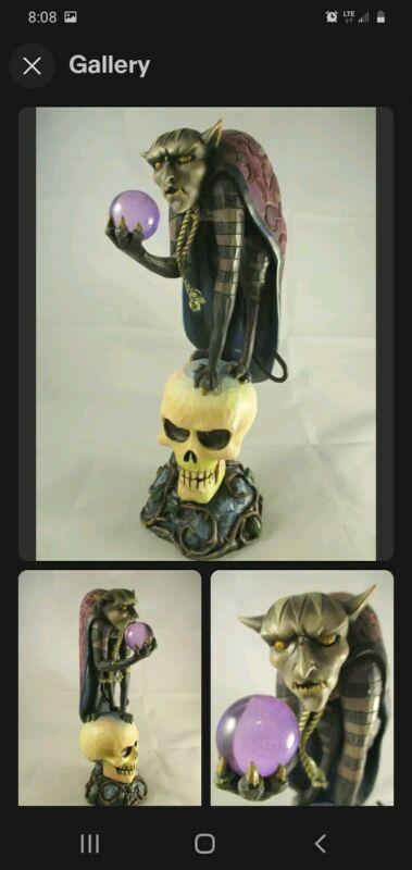 JIM SHORE 2009 Demon Dark Skull Figurine 4014442KBC Glows in the Dark BRAND NEW