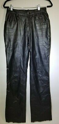 Harley Davidson Black Leather Motorcycle Riding Pants Women's 34 / 6W