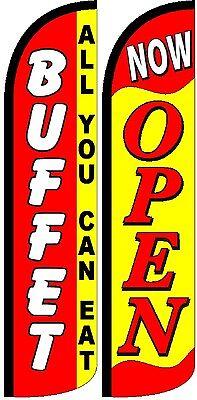 Buffetnow Open Windless Standard Size Swooper Flag Sign Banner Pk Of 2