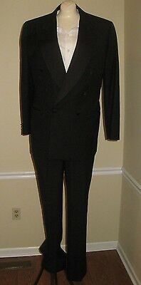 Canali Milano Peak Lapel Double Breasted Vintage Tuxedo 42 R 33 x 30