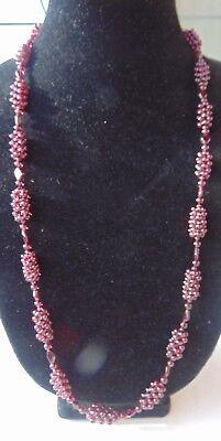 """Bradford Exchange ? 30"""" Purple Beaded Necklace"""