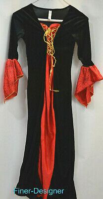Spider Woman Costume Kids (spider woman dress vampire gothic Halloween Costume play girls Child LARGE 8)