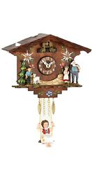 Kuckulino Black Forest Clock with quartz movement and cuckoo ch.. TU 2048 SQ NEW