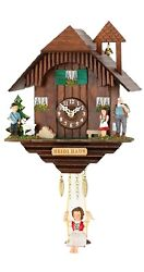 Kuckulino Black Forest Clock with quartz movement and cuckoo ch.. TU 2049 SQ NEW