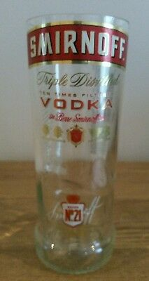 Smirnoff vodka upcycled glass