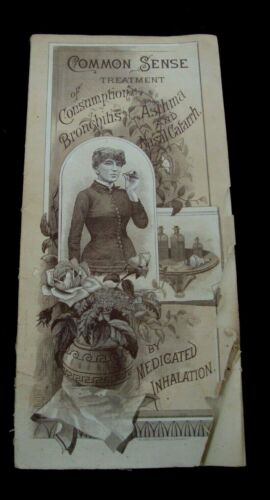 1886 Quack Medicine Medical Consumption Asthma Advertising Famous Dr. Wolfe Ohio
