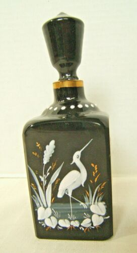 19th CENTURY BLACK MARY GREGORY COLOGNE PERFUME BOTTLE
