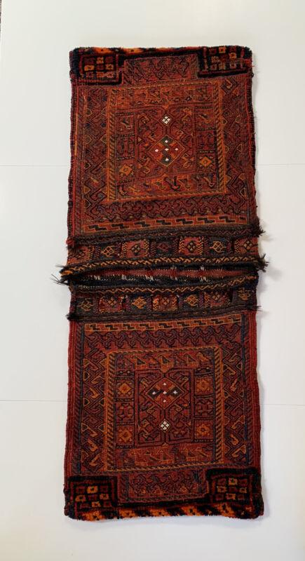 Antique Kilim Turkish Wool Salt Saddle Bag Persian Afghan Woven Rug Nomadic