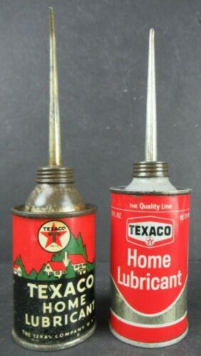 2 VINTAGE TEXACO HOME LUBRICANT OILERS TINS