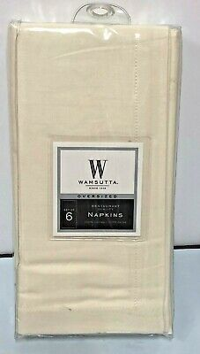 SET of 6 NAPKINS  WAMSUTTA - OVERSIZED  /  21 in  21 in   /Ivory - Oversized Tablecloths
