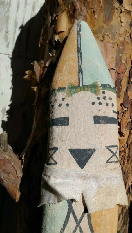 Hopi Kachina Doll Antique Native American Crib Flat Kachina Sotuknang NB