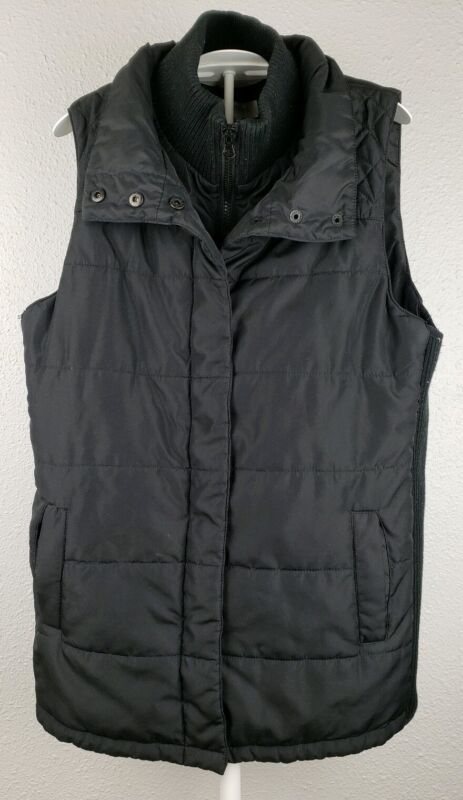 Motherhood Maternity Black Puffer Vest Medium