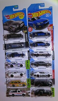 Hot Wheels JDM lot of 14: Skylines (9), 620, 510 Bluebird Wagon, 240z, GTR