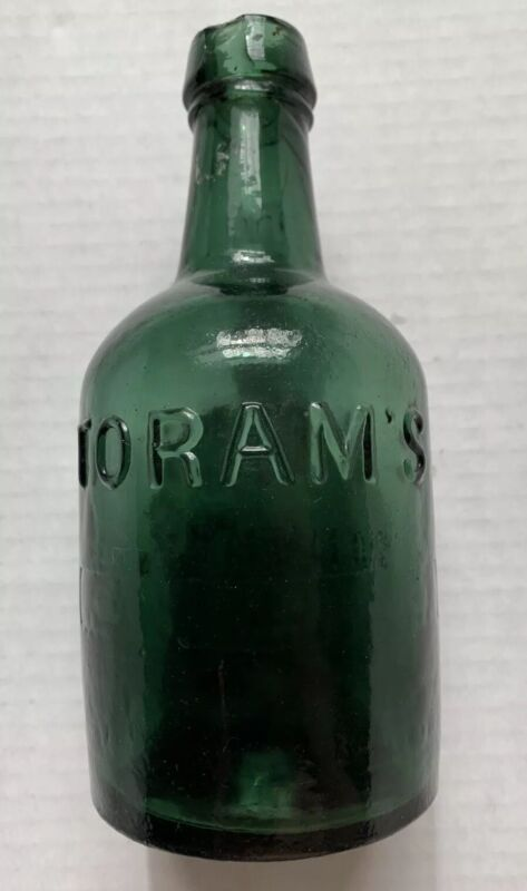 1840s 1850s PHILADELPHIA, PA, TORAM MINERAL WATER BOTTLE, 41 SOUTH STREET, RARE