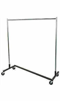 Z-truck Clothing Clothes Rack Rolling Casters 63 X 24 X 68 Single Rail