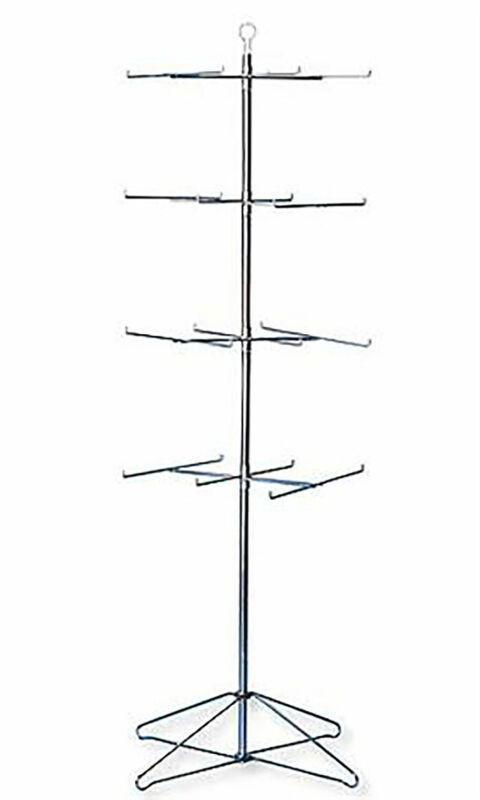 "4-Tier Chrome Wire Spinner Rack (4 tiers - space 12"" apart)"