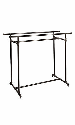 Pipeline Double Clothing Rack Pipe Line Adjustable Ht New Youk Garment District