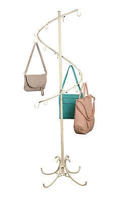 Boutique Ivory Spiral Handbag Rack 6h X 17w