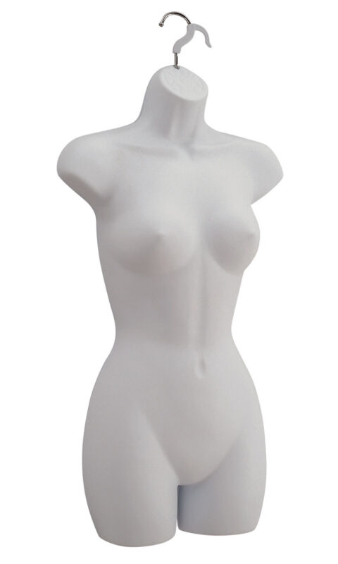 Female Molded Frosted Shapely Form with Hook - Fits Women's Sizes 5-10