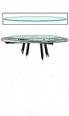 Rack Topper Glass Round Clothing 30 Diameter Clear For 36 Rack Melamine
