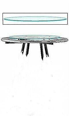 Rack Topper Glass Round Clothing 30 Diameter Clear For 36 Rack Melamine