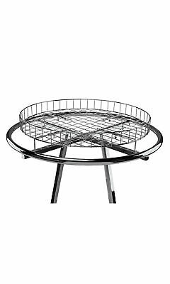 Wire Basket Round Clothing Rack Topper 30 Diameter Chrome For 36 Rack