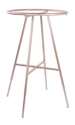 Round Clothing Rack Clothes Garment Retail Store Rose Gold 48-72 Adjustable