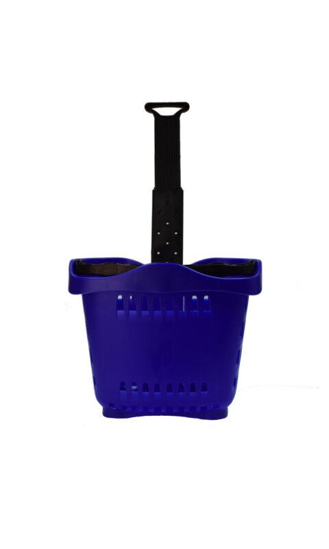 Rolling Blue Shopping Baskets - Set of 10