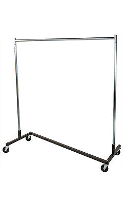 Single Rail Z-truck Clothing Rack - 63 W X 24d X 68h