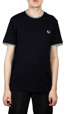 Fred Perry Twin Tipped T-Shirt In Navy