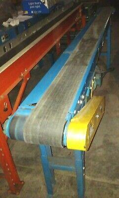 10 X 11 Hytrol Brand Powered Belt Conveyor With Variable Speed Drive - Works