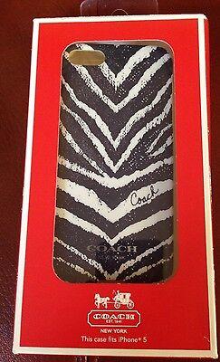 Iphone 5 Zebra (COACH ZEBRA PRINT IPHONE 5 CASE NAVY MSRP $38)