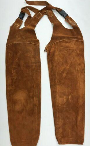 "Leather Welding Sleeves Pair 23""in ea, Brown Color"