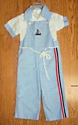 Vintage GOOD LAD Tailored Blue Pinstriped Sailor Pant Suit Boys Size - Sailor Suit