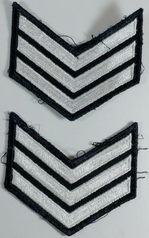 3 White Stripes 2x Military Patch Obselet Canadian or Us Army badge Insignia