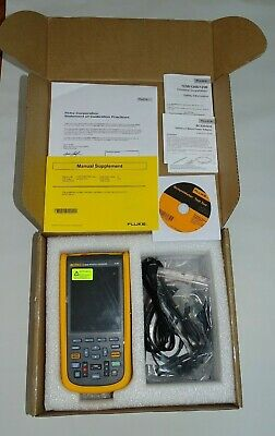 Fluke 124b Industrial Scopemeter Color Handheld Oscilloscope 40mhz